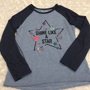 5T long sleeve jersey style t-shirt.